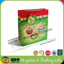 Popular Sale China Manufacturer Package Gift Decorative Christmas Paper Bag