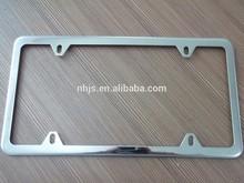 Amercian Stainless steel car license plate frame
