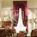 100% flor de poliéster de alta de diseño- presion del telar jacquar del chenille listo cortina hecha de tela de valores