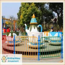 theme park amusement rotary cup ride park