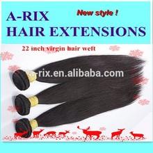 Qingdao supplier high quality 22 inch human hair weaving weft