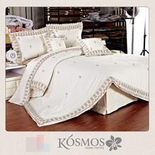 100% cotton fashion embroidery 6pcs duvet covers 240x260