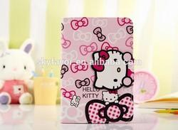 Hot sale Cute cartoon leather case for iPad Mini 1 Mini 2