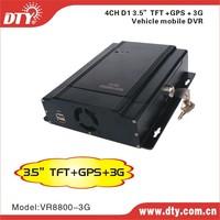 DTY VR8800-3G 3g video transmission gps google map 4ch mobile dvr 4ch hdd/ssd mdvr