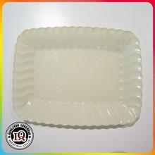 Deluxe Quality Hard Plastic Rectangular Dessert Plates