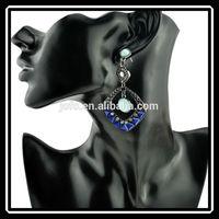 Bali Vogue Vintage Style Women Lady Girls Resin Rhinestone Square Jewelry Earrings
