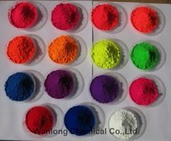 Fluorescent pigment for nail enamel