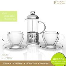 OEM Promotional Coffee Press Custom Tea Thermos With Tea Infuser