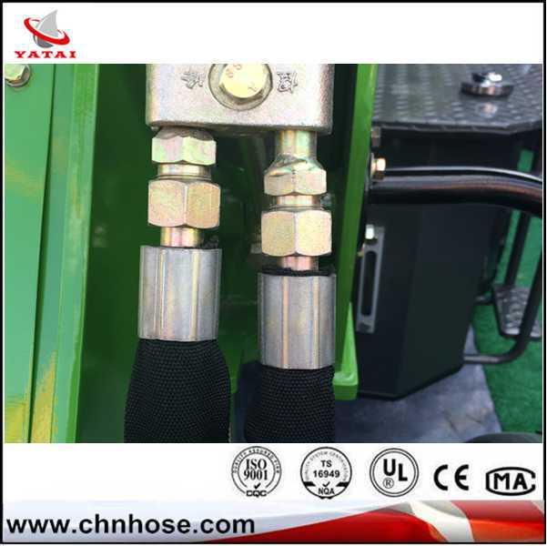 อาลีบาบาประเทศจีนผู้จัดจำหน่ายใหม่2014เหล็กลวดถักน้ำมันไฮดรอลิท่อทนท่อยางr1r2ต้านทานริ้วรอย