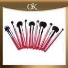 QK top 10pcs make up brush set/wholesale ladies makeup sets cosmetic brush kits