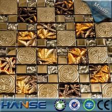B-22-15 stainless steel metal wall tiles interior mosaic dubai tile