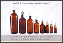 200ml amber round e-liquid glass bottle with different caps free sample