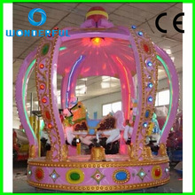 attractive best sale new arrival children game mechanical carousel horse ride