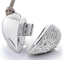 jelwery usb 8GB pen drive pretty metal diamond heart shape usb 2.0 4gb thumb drive for Valentine's Day 2015
