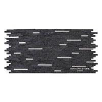 Natural Stone Fireplace Decorative Mosaic Black Sparkle Tile Black Glitter