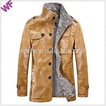 Custom Made Unique Logo Hight Quality Man Leather Jacket