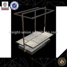 metal hanging clothes display racks/optical shop equipment/sample display metal racks for online retail store