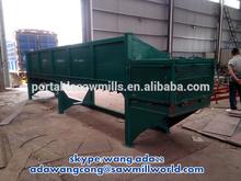 mobile log wood peeling machine with tyres ( electric / diesel )