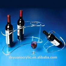 2014 simple & elegant acrylic wine bottle holder for wine promotion