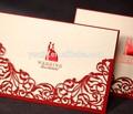 تصميم مخصص بطاقة دعوة الزفاف الأبيض