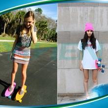 penny 4 wheel skateboard cruiser ,street long board,wood penny style board