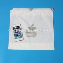 Wholesale China CUSTOM Logo Branded promotional plastic drawstring bag for iphone 6 plus