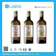 Hot selling nice design good quality custom wine bottle neck label