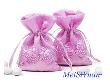 New design for 2015 promotional drawstring satin gift bag for wedding favor