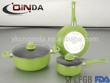 Forged aluminum white ceramic pan cookware set