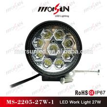 "4.3"" round 2250lumen 27w worklight, 27w led light, new 27w car led tuning light led work light"