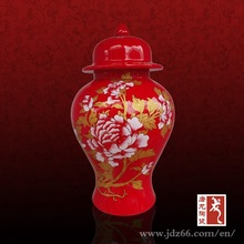 Red Chinese vacuum bell jar silicone jar made of ceramic