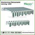 China fabricante de alta qualidade pesado toldo de alumínio terraço com manivela