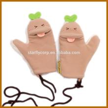 fiver finger winter cotton gloves and socks promotion working