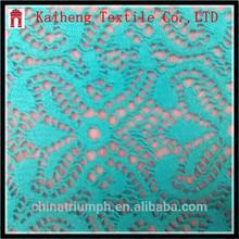 Alibaba Shaoxing Nylon spandex Crochet Lucy Lace Dark Mint