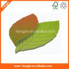 Leaf shaped sticky note pads, die-cut self-adhesive pad