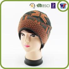 Logo embroidered custom camo beanie winter hat