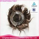 Virgin european human hair no shedding fishnet wig toupee men thin skin