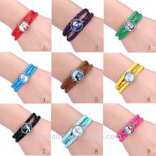 Frozen magnetic bracelet, elsa leather bracelet,hot new products for 2015