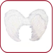 cheap white small or large feather angel wings PGAC-0372