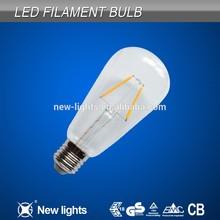 HOT selling E27 ST64 old edison shape led filament bulb replace incandescent bulb