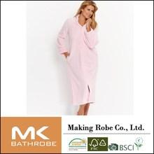 women Supersoft Dimple Long Zip Robe ladies lounge wear heated bathrobe
