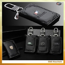 Leather Carved Car Auto Logo Key Bog Holder Case for Wholesale KC 003