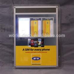 led light frame / flash light box / slim light box with led display