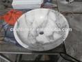 Natural pedra de mármore branco pia do banheiro um pedaço de banho lavatórios pia do banheiro da China