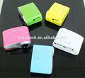cor diferente preço barato smart chirstmas mini projetor digital projetor de slides