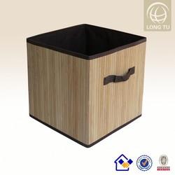 promotion personalize bamboo foldable storage