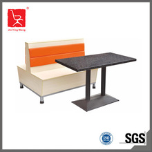 Foshan commercial furniture restaurant sofa booth with table DTC-010