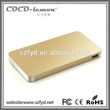 OEM Brand Portable Power banks from Shenzhen manufacturer 6500mAh Power bank Metal Power Banks