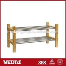 modern wooden shoe rack two layers shoe storage