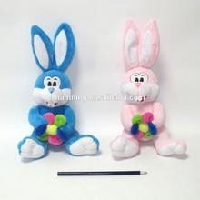 Baby Toy Soft Plush Sitting Rabbit Animal With Flower